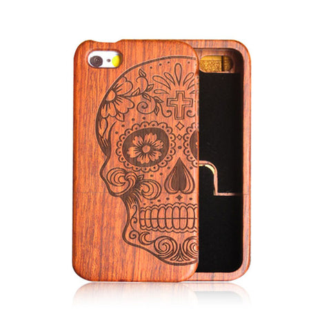 iPhone 5 5s SE 6 6s Plus Carving Wooden Funda
