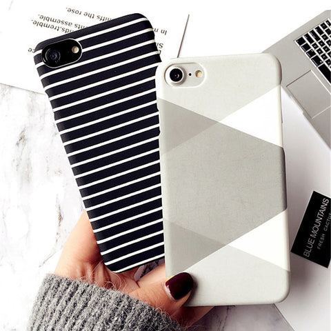 Zebra Stripe Case For iPhone 7 7Plus and iPhone 6 6S 6SPlus