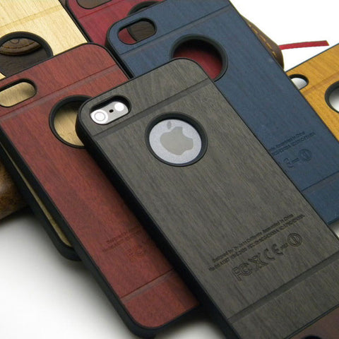 iphone 5, 5s, SE wood case skin classical Vintage Retro Style
