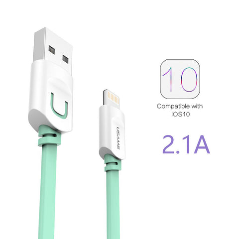 IPhone Cable 2.1A Fast Charging 0.25m, 1m, 1.5m, Flat Usb Charger