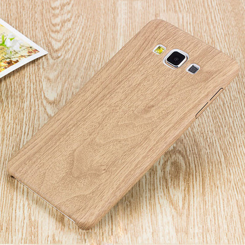 Fashion Wood Leather Case for SamsungS6 S7 Edge A3 A5 A7 2016 J3 J5 J7