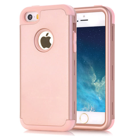 Shockproof Hybrid Three Layer Hard Back Cover for iPhone 5 / 5S / SE