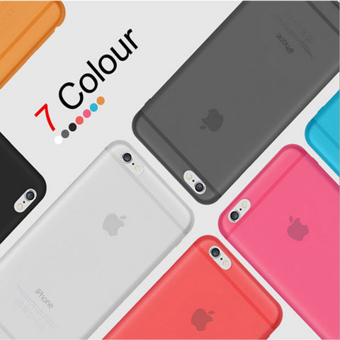 Thin Matte Frosting Shell Cover Skin For iphone 4 / 4S / 5 / 5S / SE / 6 / 6S / 6 PLUS / 7 /  7Plus