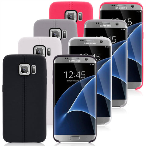 Color Dual Lines Soft TPU Case for Samsung S7 S7 Edge S6 Edge S6 Edge plus S5 Note 5