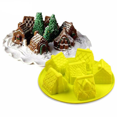 Small Houses Silicone Cake Mold