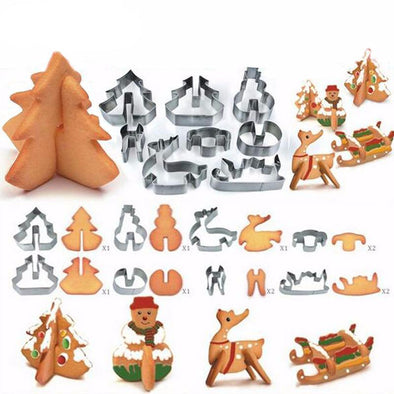 3D Christmas Cookie Molds