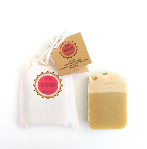 Beer Soap / Coriander Myrrh / Hand And Body Bar