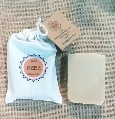 Beer Soap / Vanilla / Solid Shampoo Bar