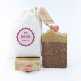 All Natural Beer soap Lavender + Geranium