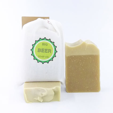 All Natural Lime Scented Beer Soap