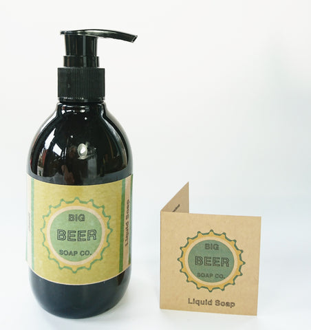 Beer Soap/ Basil/ Liquid Hand And Body Soap