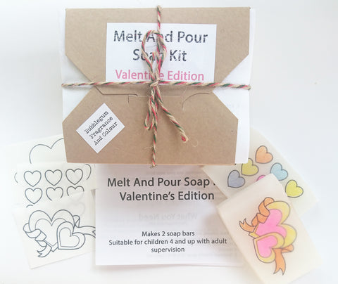 Valentine Melt And Pour Soap Kit