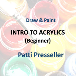 Draw & Paint with Presseller - INTRO TO ACRYLIC PAINTING (Beginner)