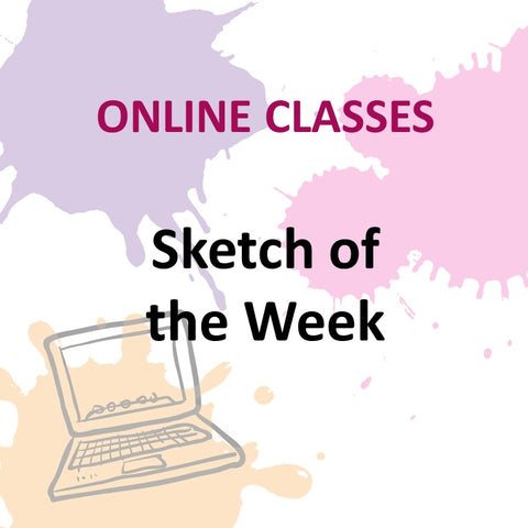 Online Class - SKETCH OF THE WEEK with Laura Pommier (All Levels)