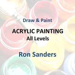 Draw & Paint with Sanders - ACRYLIC PAINTING (All Levels)