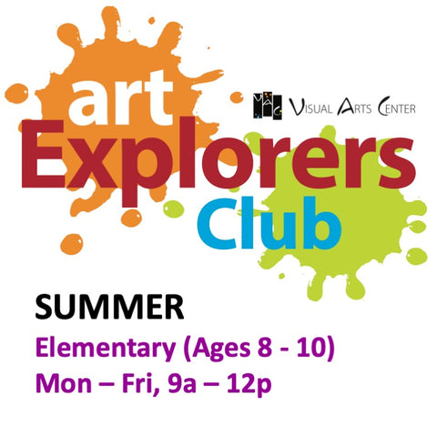 Youth Art: SUMMER CAMP Ages 8-10 (Grades 3-5) 9am-12pm