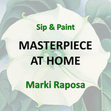 Online Social - Wine & Art with Raposa - PAINT A MASTERPIECE IN 2 HOURS