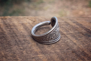 1865 Bird Sterling Spoon Ring