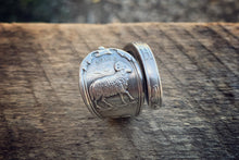 1894 March Zodiac Sterling Spoon Ring