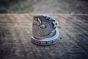 1894 November Zodiac Sterling Spoon Ring