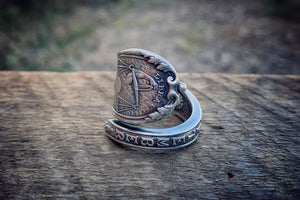 1894 September Zodiac Sterling Spoon Ring