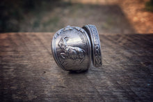 1894 December Zodiac Sterling Spoon Ring