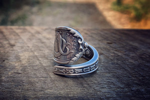 1894 February Zodiac Sterling Spoon Ring
