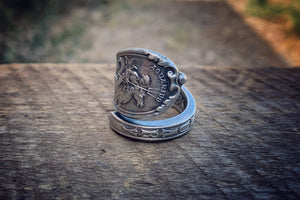 1894 January Zodiac Sterling Spoon Ring