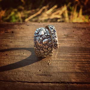 1933 Southern Rose Sterling Spoon Ring
