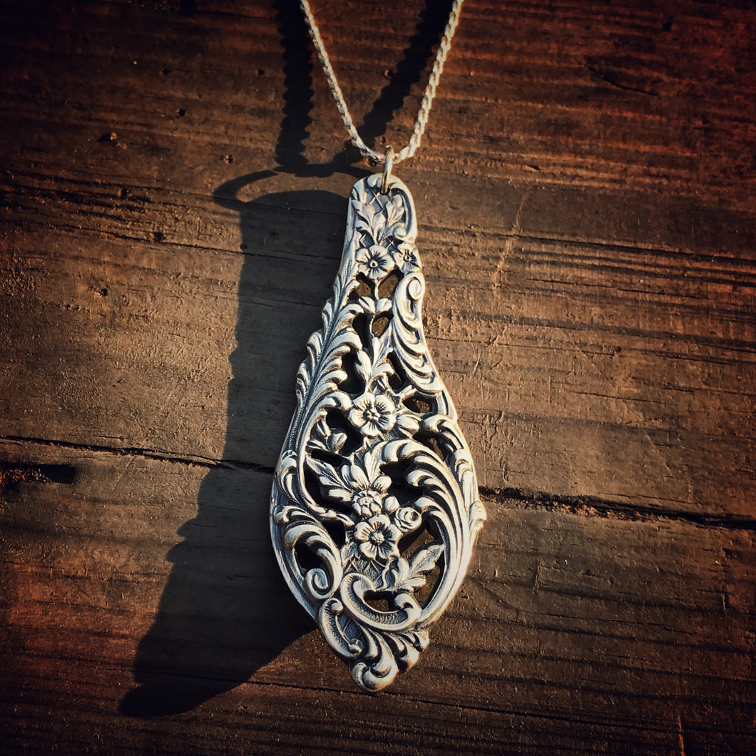 Florentine Sterling Spoon Necklace