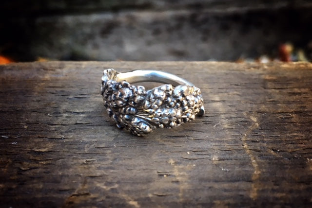 1928 Goldenrod Sterling Spoon Ring