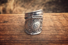 A Turtles Dance Statement Sterling Spoon Ring