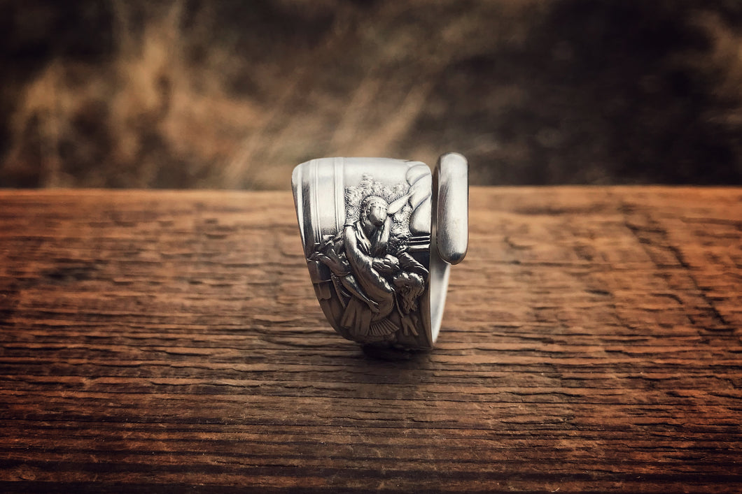 1890 Juliet Sterling Spoon Ring (Rare)