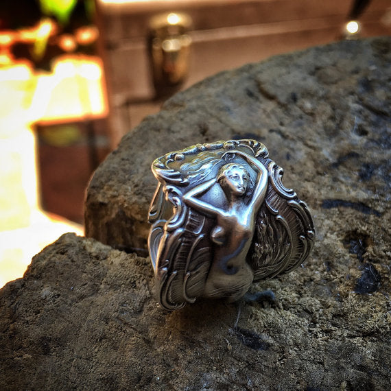 1895 Phoebe Sterling Spoon Ring