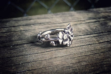 1928 Apple Blossom Sterling Spoon Ring