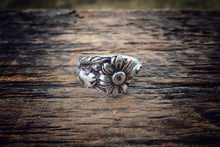 Sunflower Sterling Spoon Ring (Rare)