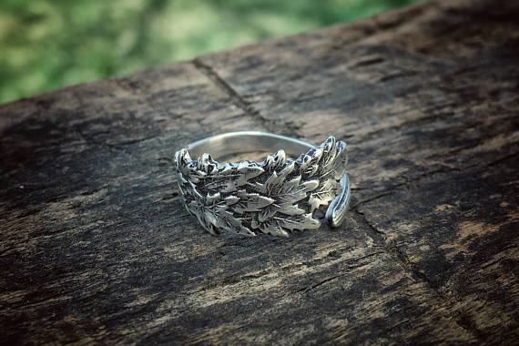 The Little Maple Sterling Spoon Ring