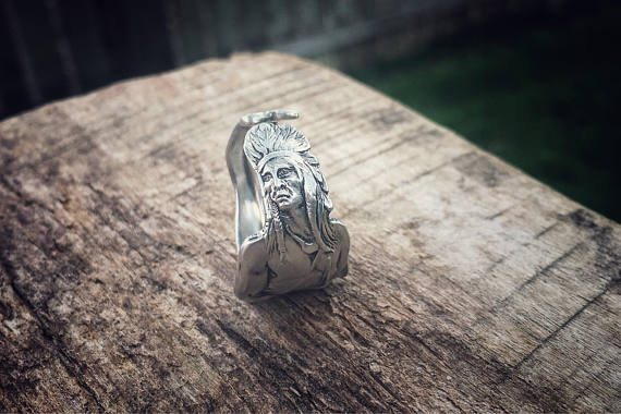 The Indian Sterling Spoon Ring