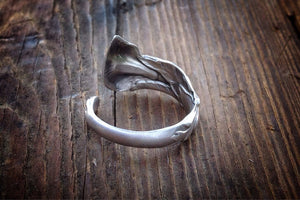 1928 Calla Lily Sterling Spoon Ring