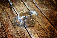 1928 Wild Rose Sterling Spoon Ring