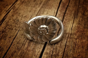 1928 Water Lily Sterling Spoon Ring