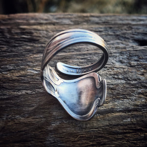 1900 Pond Lily Sterling Spoon Ring