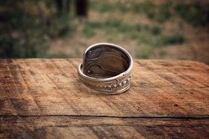 The Torn Veil Sterling Spoon Ring