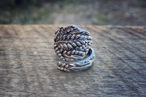 1905 Wheat Sterling Spoon Ring