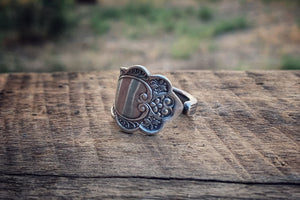 1875 Murillo Sterling Spoon Ring