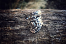 1903 Tea Rose Sterling Spoon Ring