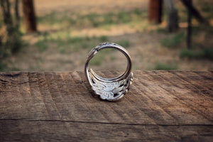 The Pierced Daisy Sterling Spoon Ring