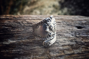 1895 Cherub Sterling Spoon Ring