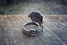A Cupids Trio Sterling Spoon Ring