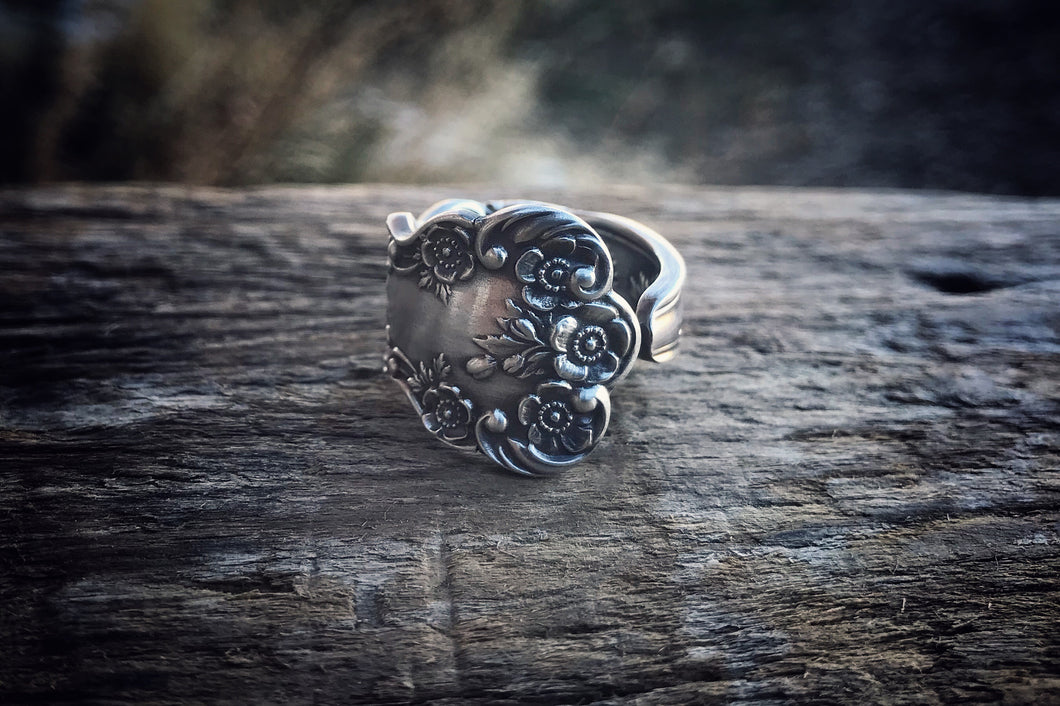 1900 Buttercup Sterling Spoon Ring